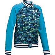 Under Armour Girls' Novelty Armour Fleece Bomber Jacket