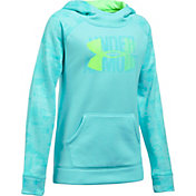 Under Armour Girls' Printed Armour Fleece Big Logo Hoodie