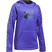Under Armour Girls' Printed Armour Fleece Big Logo Hoodie