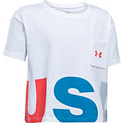 Under Armour Girls' USA Crop T-Shirt