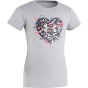 Under Armour Little Girls' Splatter Heart T-Shirt