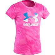 Under Armour Little Girls' Oasis Split Logo T-Shirt