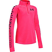 Under Armour Girls' Threadborne 1/4 Zip Long Sleeve T-Shirt