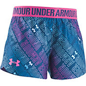 Under Armour Little Girls' Wordmark Play Up Shorts