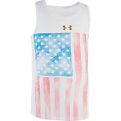 Under Armour Little Girls' Watercolor Flag Tank Top