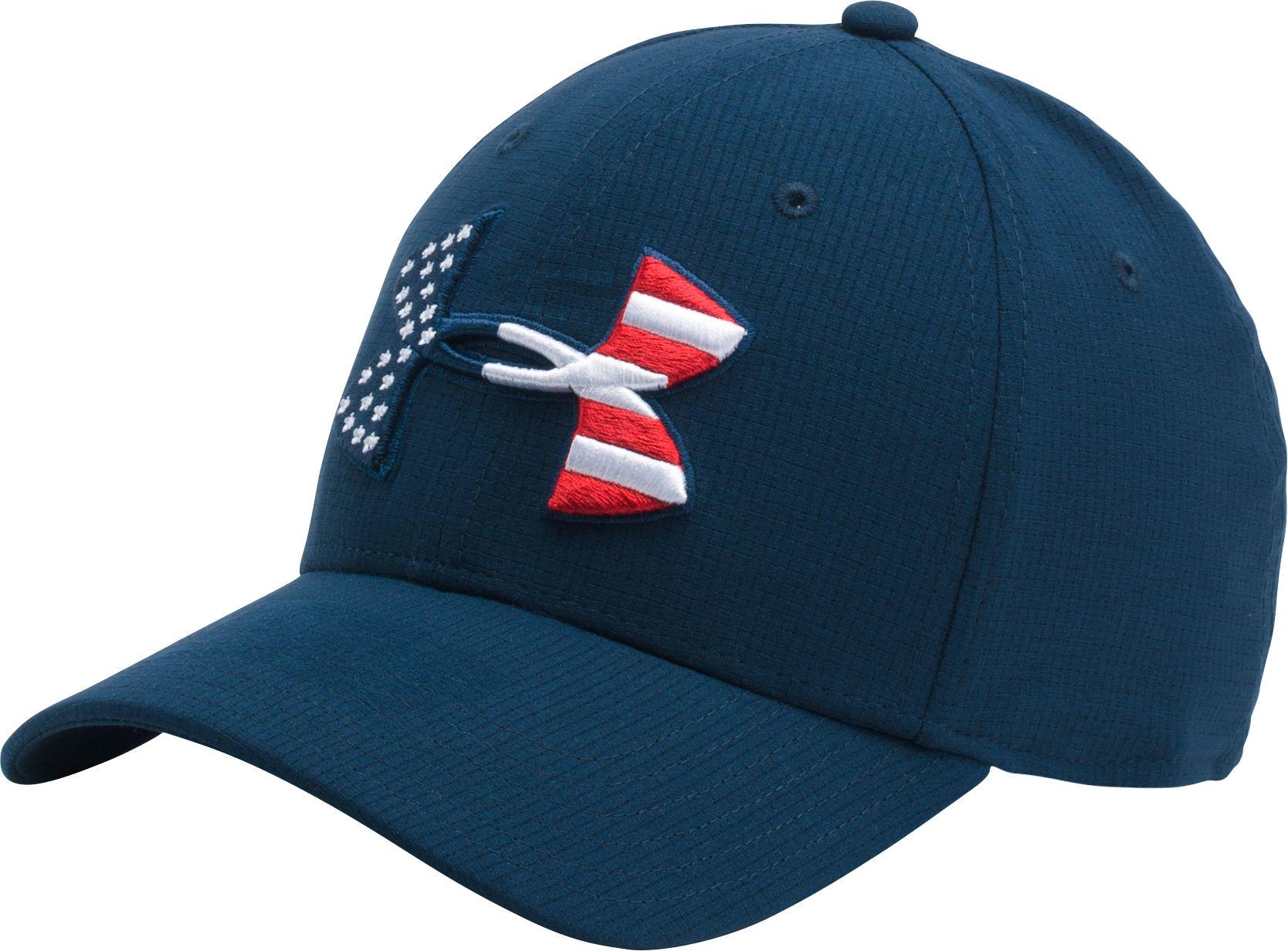 Attirant Under Armour Menu0027s Big Flag Logo Stretch Fit Hat 2.0   DICKu0027S Sporting Goods