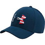 Under Armour Men's Big Flag Logo Stretch Fit Hat 2.0