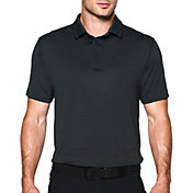 Under Armour Men's coldblack Tee Time Stripe Golf Polo