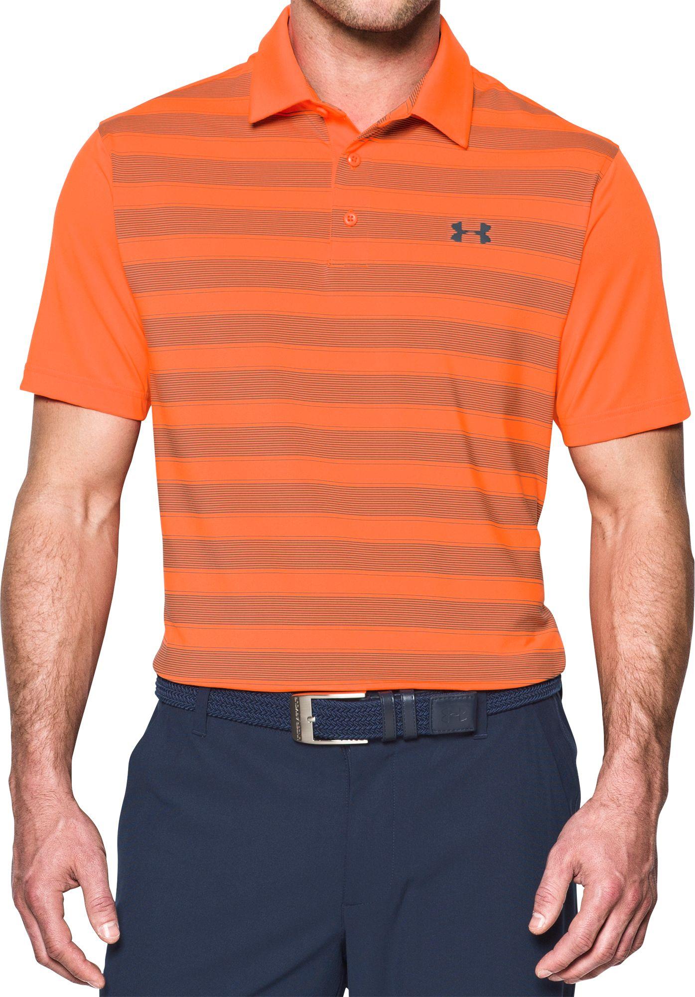 under armour polo. under armour men\u0027s flagstick stripe golf polo