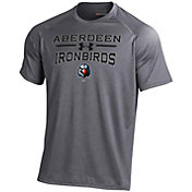 Under Armour Men's Aberdeen IronBirds Grey Tech Performance T-Shirt