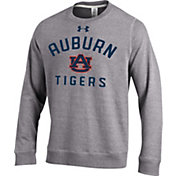 Under Armour Men's Auburn Tigers Grey Tri-Blend Fleece Crew Sweatshirt