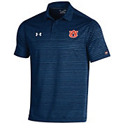 Under Armour Men's Auburn Tigers Blue Trajectory Polo