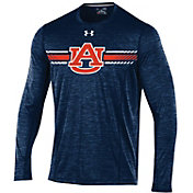 Under Armour Men's Auburn Tigers Blue Long Sleeve Training T-Shirt