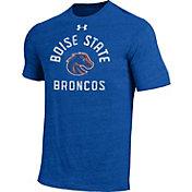 Under Armour Men's Boise State Broncos Blue Tri-Blend Performance T-Shirt