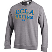 Under Armour Men's UCLA Bruins Grey Tri-Blend Fleece Crew Sweatshirt
