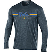 Under Armour Men's UCLA Bruins Grey Football Sideline Training Long Sleeve Shirt