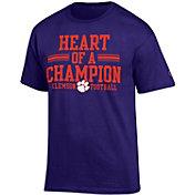 Champion Men's Clemson Tigers Regalia 'Heart of a Champion' T-Shirt