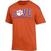 Champion Men's Clemson Tigers 'Love' Orange T-Shirt
