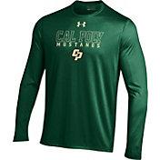 Under Armour Men's Cal Poly Mustangs Green Long Sleeve Tech T-Shirt