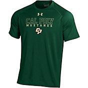 Under Armour Men's Cal Poly Mustangs Green Tech T-Shirt