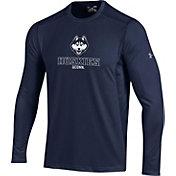 Under Armour Men's UConn Huskies Raid Performance Long Sleeve Blue T-Shirt