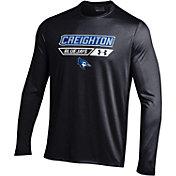 Under Armour Men's Creighton Blue Jays Black Long Sleeve Tech T-Shirt