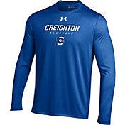 Under Armour Men's Creighton Bluejays Blue Long Sleeve Tech T-Shirt