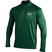 Under Armour Men's Colorado State Rams Green UA Tech Tonal Twist Quarter-Zip Shirt