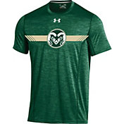 Under Armour Men's Colorado State Rams Green Football Sideline Training T-Shirt
