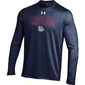 Under Armour Men's Gonzaga Bulldogs Blue Long Sleeve Tech T-Shirt