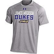 Under Armour Men's JMU Dukes Grey Performance T-Shirt