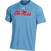 Under Armour Men's Ole Miss Rebels Light Blue Script T-Shirt