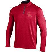 Under Armour Men's Ole Miss Rebels Red UA Tech Tonal Twist Quarter-Zip Shirt