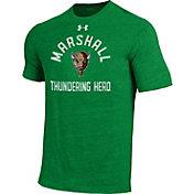 Under Armour Men's Marshall Thundering Herd Green Tri-Blend Performance T-Shirt