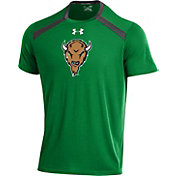 Under Armour Men's Marshall Thundering Herd Green Threadborne Vented Tech T-Shirt