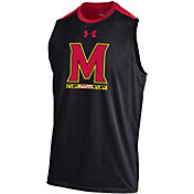 Under Armour Men's Maryland Terrapins Black Sleeveless Charge Tank