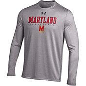 Under Armour Men's Maryland Terrapins Grey Long Sleeve Basketball T-Shirt