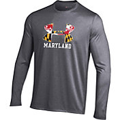 Under Armour Men's Maryland Terrapins 'Maryland Pride' Grey Long Sleeve Tech T-Shirt