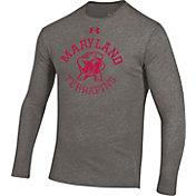 Under Armour Men's Maryland Terrapins Grey Tri-Blend Long Sleeve T-Shirt