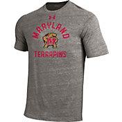 Under Armour Men's Maryland Terrapins Grey Tri-Blend T-Shirt