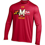 Under Armour Men's Maryland Terrapins Red 'Maryland Pride' UA Tech Performance Long Sleeve Shirt
