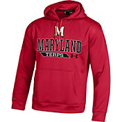 Under Armour Men's Maryland Terrapins Red Armour Fleece Hoodie
