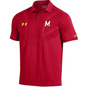 Under Armour Men's Maryland Terrapins Red Tour Polo