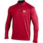 Under Armour Men's Maryland Terrapins Red Quarter-Zip Shirt