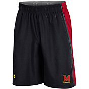 Under Armour Men's Maryland Terrapins Black Woven Training Shorts