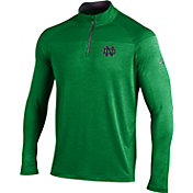 Under Armour Men's Notre Dame Fighting Irish Green UA Tech Tonal Twist Quarter-Zip Shirt