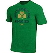 Under Armour Men's Notre Dame Fighting Irish Green Tri-Blend T-Shirt