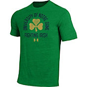 Under Armour Men's Notre Dame Fighting Irish Green Tri-Blend Performance T-Shirt