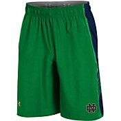 Under Armour Men's Notre Dame Fighting Irish Green Woven Training Shorts