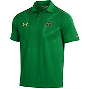 Under Armour Men's Notre Dame Fighting Irish Green Tour Polo